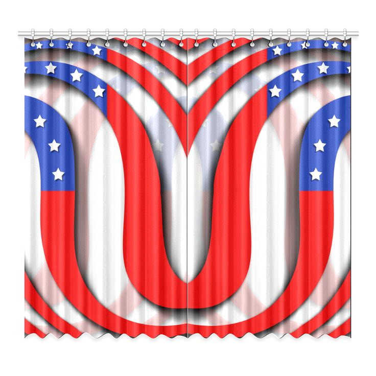 Flag of United States of America Window Curtain 52