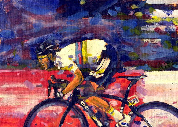 PAINTING LE TOUR: Tour de France 2012,Champs Elysees