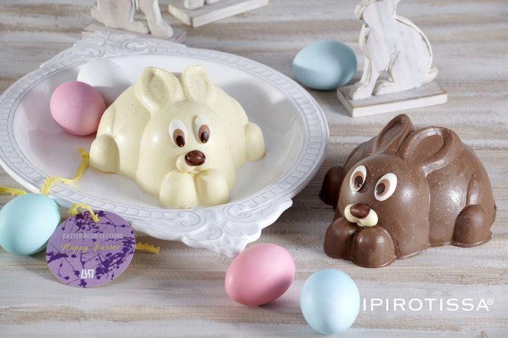 Milk chocolate & White chocolate bunnies... Sweeter than never