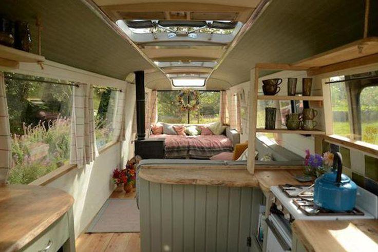Der Panoramabus im Landhausstil | 10 grandiose Vintage Busse nach ihrem Umbau zum Wohnmobil