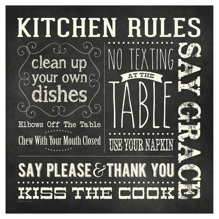 Thirstystone Kitchen Rules Chalkboard Occasions Trivet, Balck/White