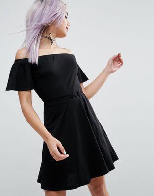 ASOS Off Shoulder Skater Dress