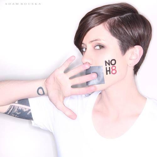 Sara Quin for NOH8 I loveeeeee