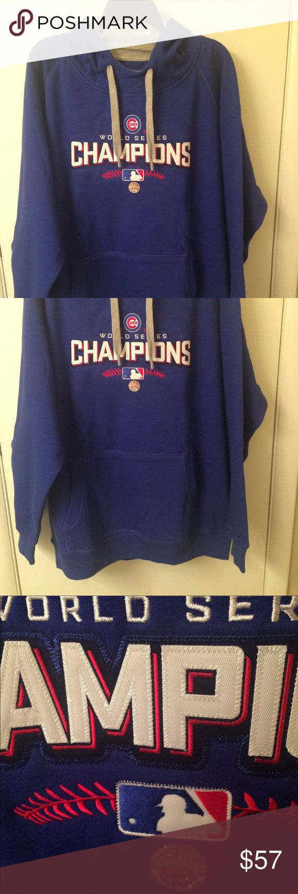 Chicago Cubs Championship Hoodie Brand new blue and authentic hoodie with embroidered detail lettering. Shirts Sweatshirts & Hoodies