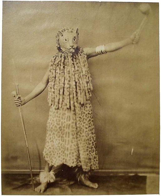 Zulu in Leopard Costume, 1853. South Africa. The Metropolitan Museum of Art, New York. Purchase, Ross Family Fund Gift, 2006 (2006.591).