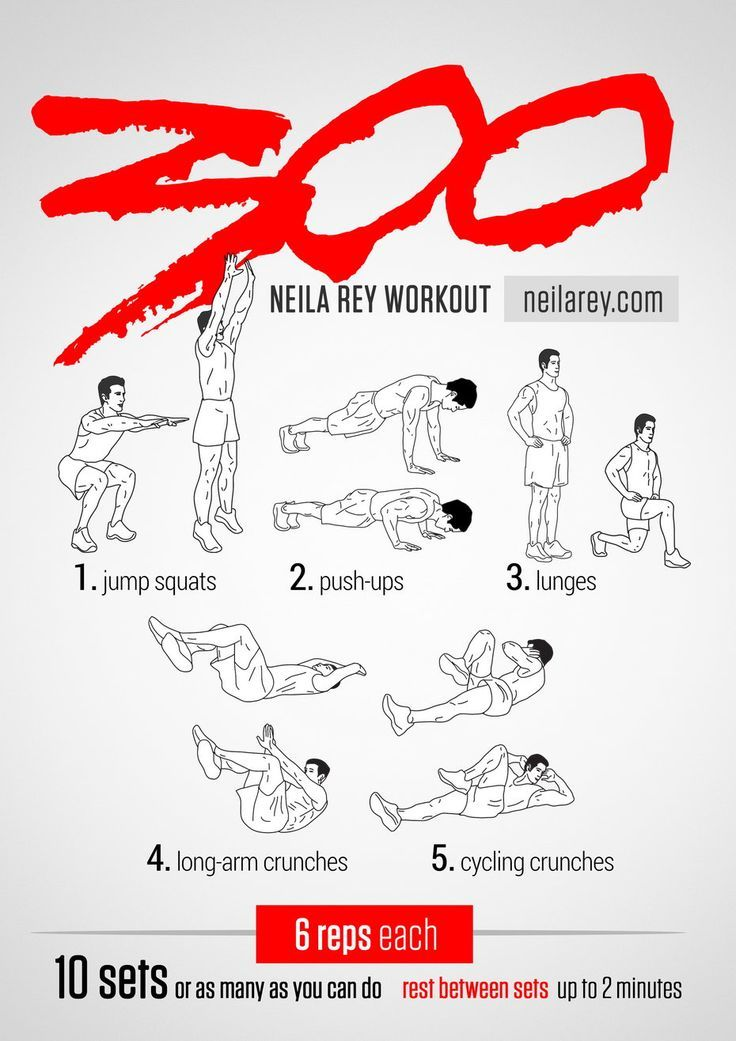 300 Workout / 2014 Revised / Works: Quads, chest, triceps, lower abs, upper abs #fitness #workout #workoutroutine #fitspiration #abs: