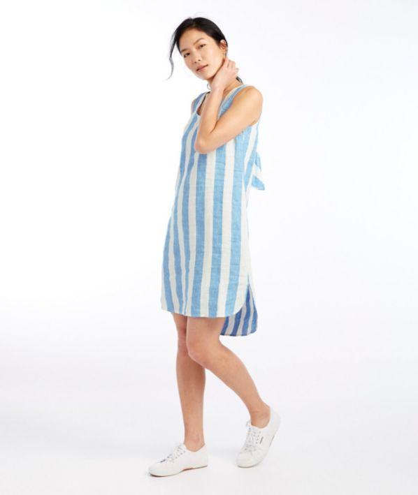 eeb256c343 Signature Sleeveless Linen Shift Dress