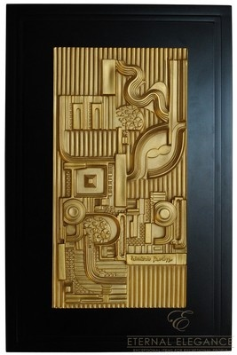 "Eduardo Paolozzi ""Relief in Gold"" Rosenthal Wall Sculpture"
