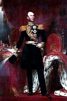 Willem II met koningsmantel.