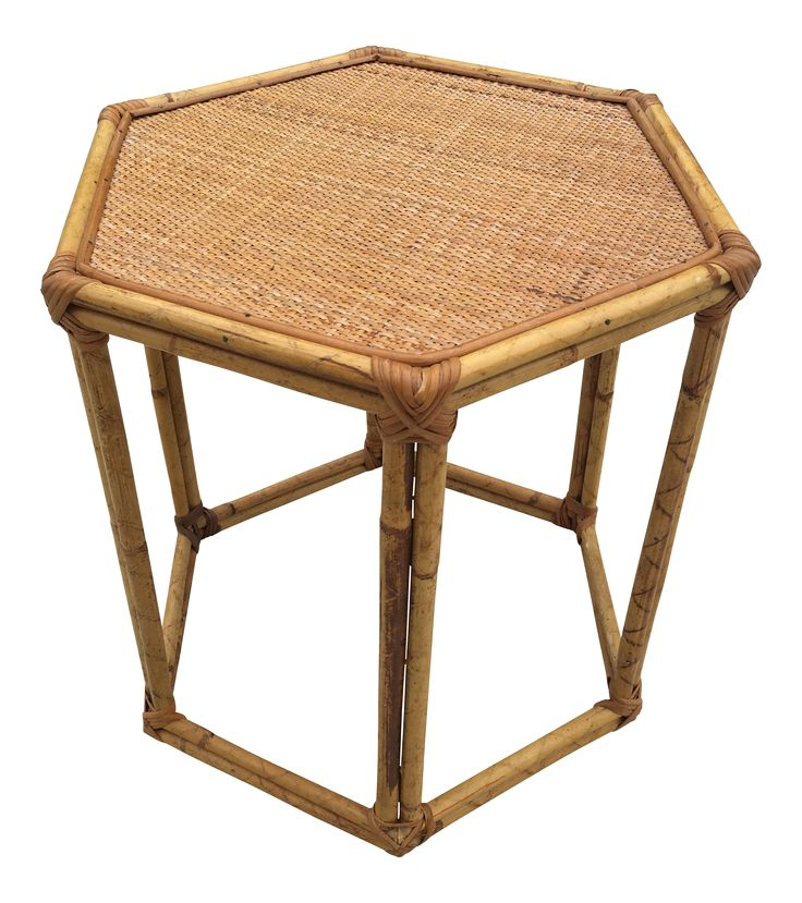 Vintage Bohemian Bamboo Table