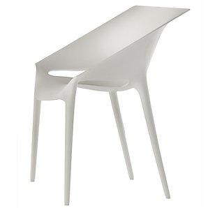 krzesła kartell Dr. YESt proj. Starck #krzesła #krzesło #białe #plastikowe #tworzywo #meble #salon #jadalnia #taras #dr.yes #biały #biało