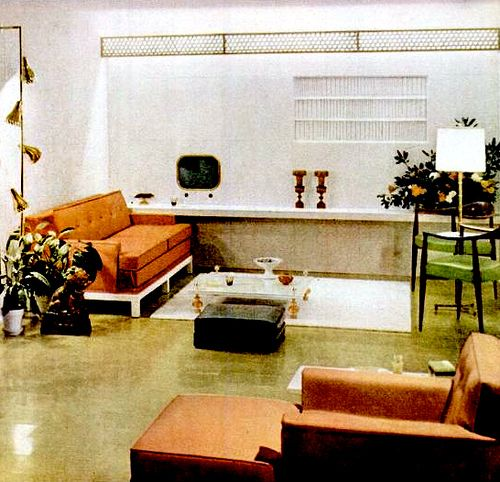 Mid Century Danish Modern Living Room 177 best 1950s home decor images on pinterest | vintage interiors