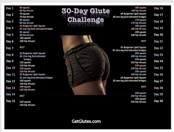 30 Day Glute Challenge by Bret Contreras...love his ...