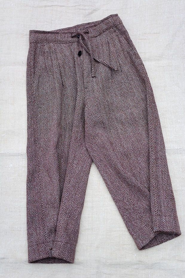 Gather II | LaneFortyfive Trouser | Short length, super-extra wide leg trousers with triple pleated front.