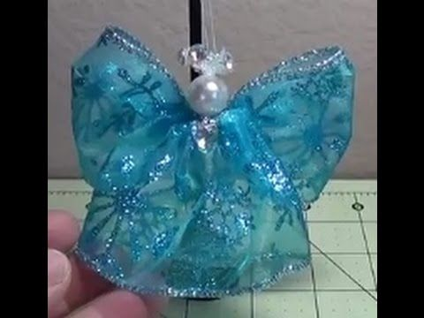 Make ANOTHER Simple, Beautiful Wired Ribbon Angel For Christmas! - YouTube