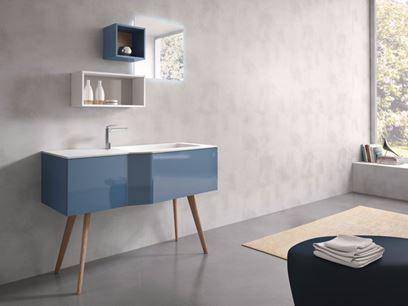 STR8 - 11   Móvel lavatório autoportante com espelho