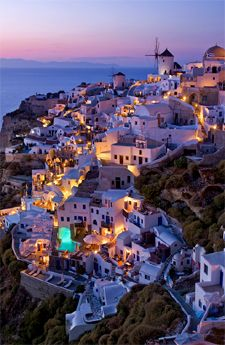 Oia, Santorini, Greece My favorite place on earth.