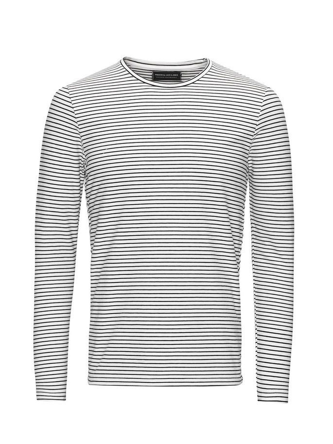 Striped long sleeved tshirt, slim fit with stretch fabric | JACK & JONES