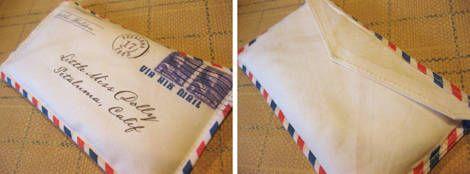 make envelope pillow.