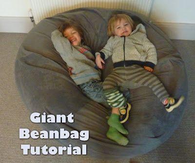 Jovial Spondoodles: Giant Bean Bag Tutorial ... best tutorial!!!