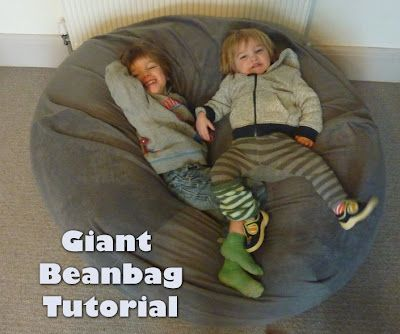 Jovial Spondoodles: Giant Bean Bag Tutorial ... best tutorial!!!