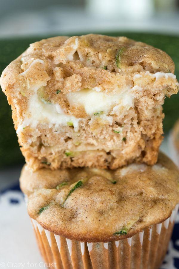 Zucchini Cream Cheese Muffins - a fast and easy breakfast recipe!