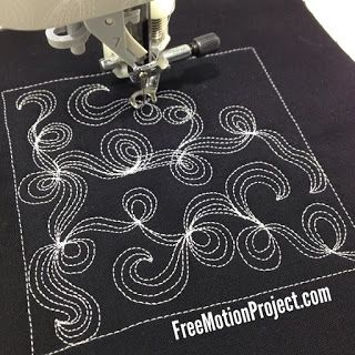 Learn how to quilt this cool Twisted Tendril Design in a free video with Leah Day: http://www.freemotionquilting.blogspot.com/2015/09/design-451-twisted-tendril.html