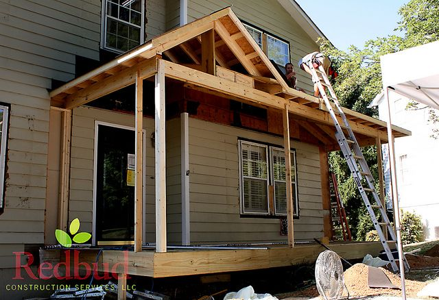 Roof line at front porch front porches porch and for Shed roof porch plans