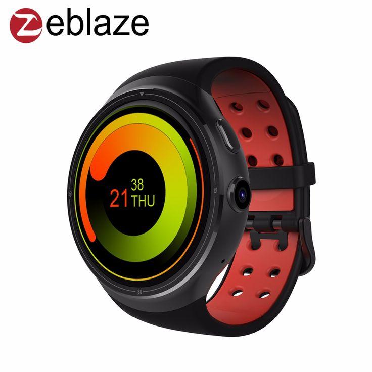 Zeblaze thor 1.4 inch super amoled 400*400 corning gorilla glass3 lebih besar 1 GB + 16 GB gps smartwatch telepon