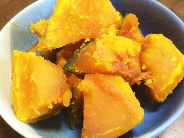 レンジで楽チンかぼちゃの煮物の画像