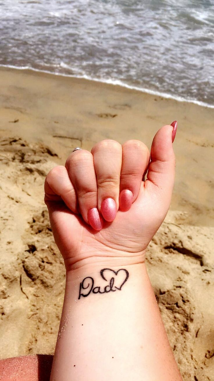In remembrance of my dad who passed away from esophageal cancer. #tattoo #cancer #cancertattoo #dadtattoo #lovedonestattoo #tattooideas #beachtattoos