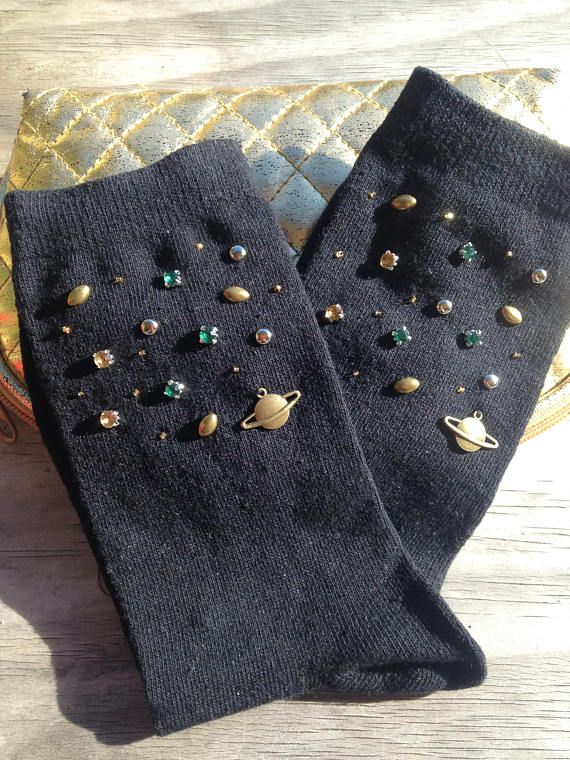 Galaxy brodé chaussettes