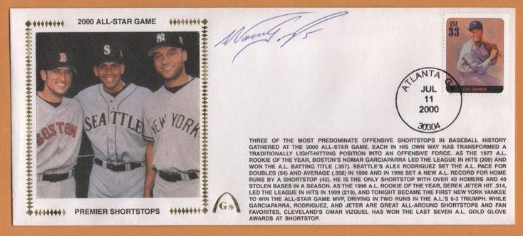 Nomar Garciaparra BLEM Premier Shortstops Autographed Gateway Stamp Envelope #BostonRedSox
