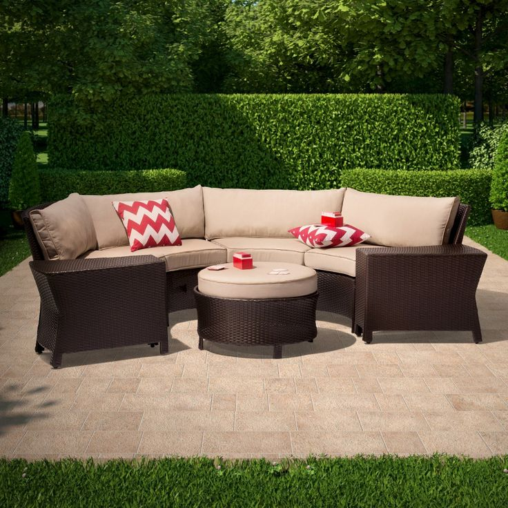Threshold Harrison 7-Piece Wicker Sectional Patio Seating