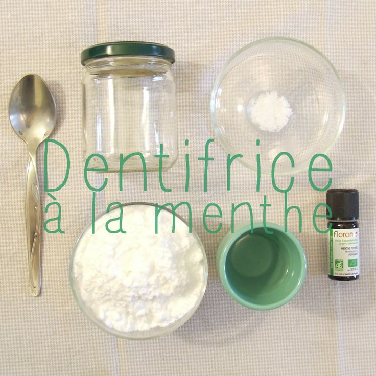 Home made dentifrice à la menthe. Green living way of life. <3 #nowaste