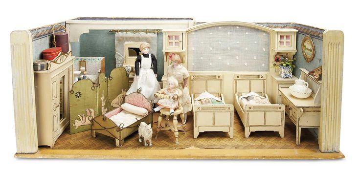 Doll Room The Childrens Nursery by Gottschalk with Wonderful Accessories; 1890