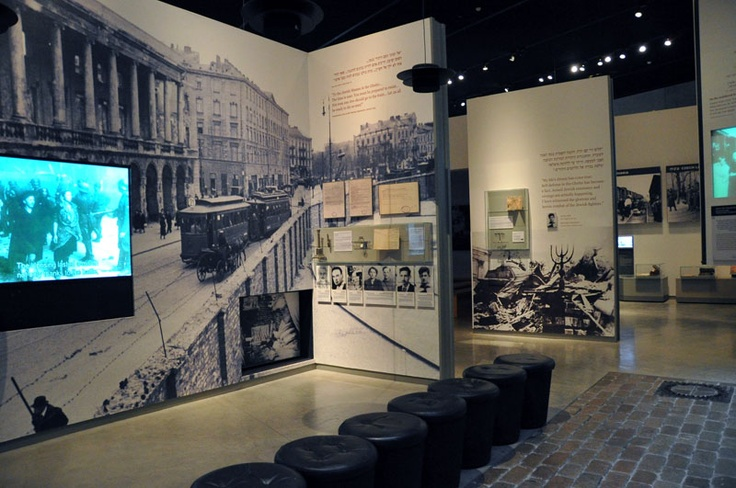 """The Holocaust History Museum - The """"Final Solution"""": The sixth gallery, the largest in the museum, deals with the implementation of the """"Final Solution"""" of the Jewish Question in Europe and Jewish resistance in the Ghettos.  Beginning with the deportation of Jews from the Ghettos, the gallery shows the murder of Poland's Jews in the extermination camps of Operation Reinhard."""