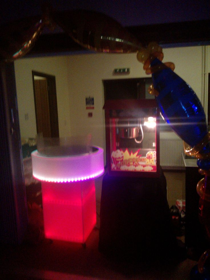 LED candy floss machine, hire this from Fun Day Events http://www.fundayevents.co.uk Email: info@fundayevents.co.uk