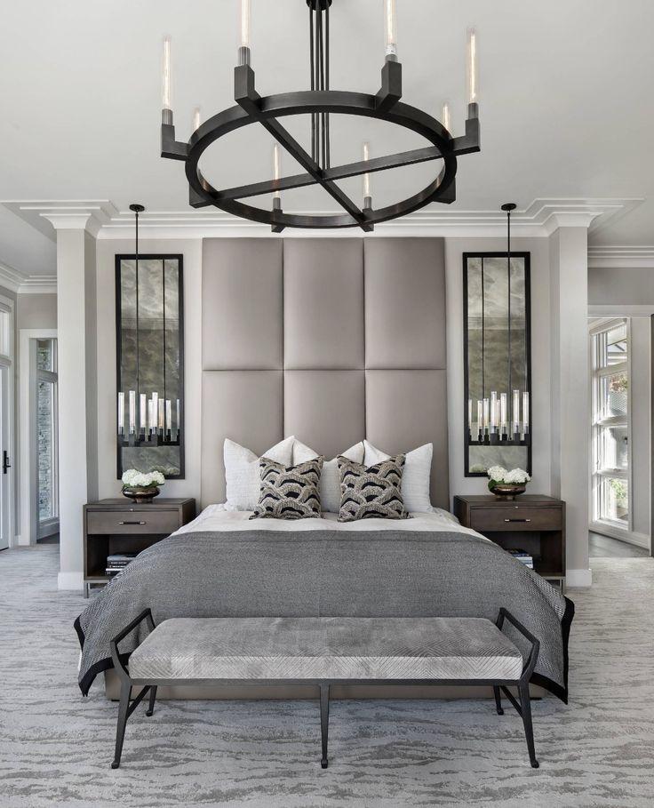 3d Design Bedroom Art Deco: All Grey Monochromatic Bedroom In Art Deco Style