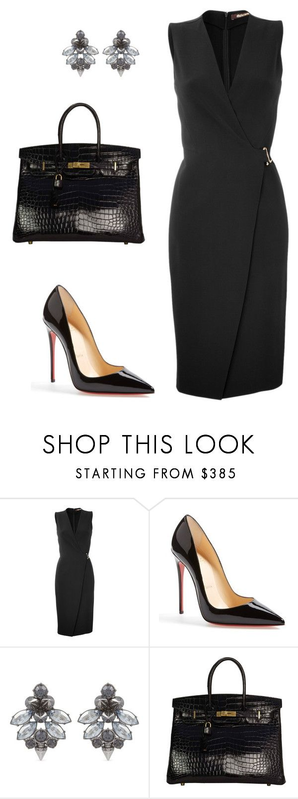 """style theory by Helia"" by heliaamado on Polyvore featuring moda, Roberto Cavalli, Christian Louboutin, Mawi e Hermès"