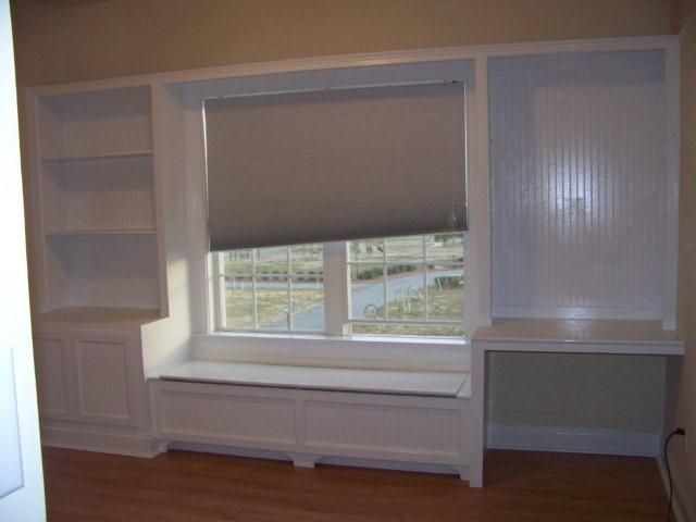 bookcase/windows seat/desk in one! This is perfect!