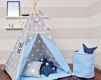 Teepee Kids Play Tent Tipi Scandinavian White by FUNwithMUM