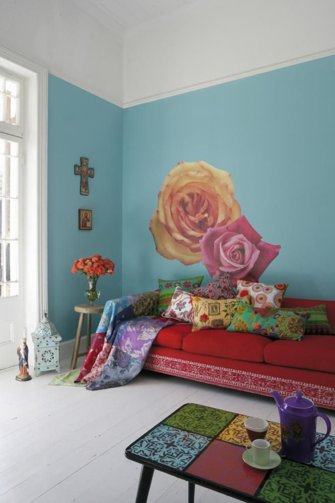 Colourful living room with a Mexican feel to it.                                                                                                                                                                                 Mehr