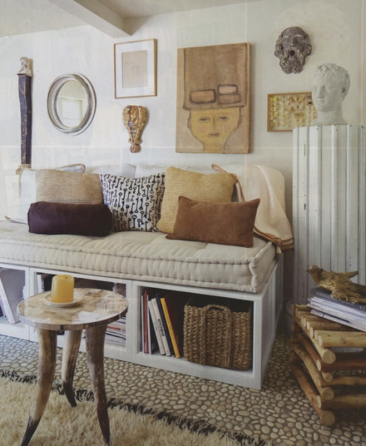banquette - I like the storage below the cushions. Perfect for homework material, craft supplies and a cookbook or two