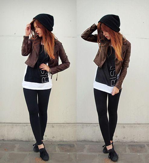 gorgeous outfit black vans 9