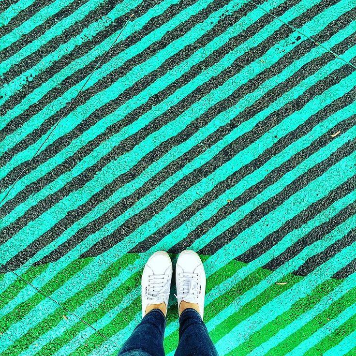 Walk The Line. #ihavethisthingwithfloors#ihaveathingwithfloors#stripes#livecolorfully#colourpop#green#flashesofdelight#abmlifeiscolorful#myunicornlife#travelgram#jj#instadaily#instacool#picoftheday#painted#fromwhereistand#lookingdown#lifewelltravelled#sydney#australia#love#acolorstory#bandofun#liveincolor#dscolor#colorhunters#thatsdarling