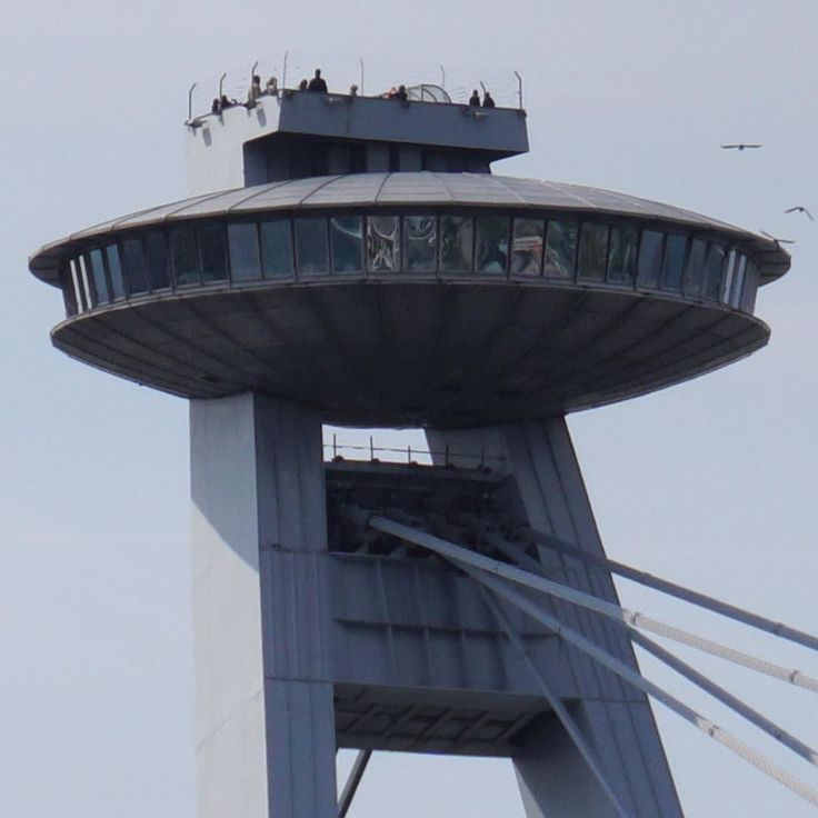 A zoomed shot of the #UFOBar #tower on #MostSNP in #Bratislava. Most SNP is a #bridge that was built in 1972 which takes vehicles bicycles and pedestrians over the #River #Danube on two levels. It is the longest single pylon cable stayed bridge in the world. The UFO:Bar and observation deck above it give impressive views over Bratislava. #fact #slovakia #igersslovakia #igersbratislava #history #culture #education #travel #tourism #tourist #leisure #life #architecture #scifi #ufo #explore…