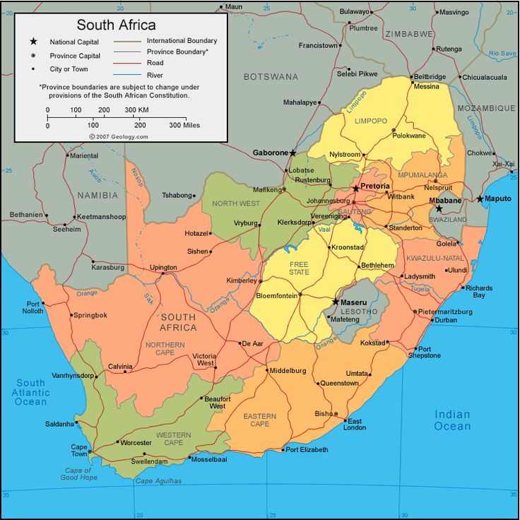 Map of South Africa <3