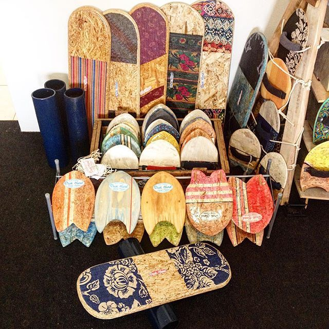 Made some fully recycled fabric inlay  balance boards for the up coming market…