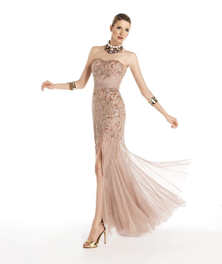 *** Lovely ***  Meerjungfrau/Mermaid-Stil Traegerlos Bodenlang Organza Champagner Abiballkleid/Abendkleid F14P0038  # Elegant fashion dream junior bridesmaid dress style